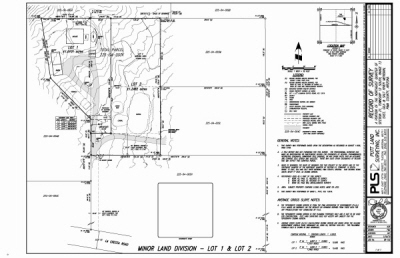 example of a Minor Land Division Survey
